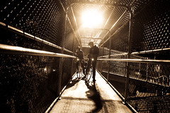 In Praise of the Night Ride (Bhlubarber) Tags: light bike bicycle night vancouver ride east chain link strathcona van davidniddrie