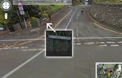 butthole lane Google Streetview