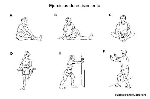 Ejercicios de estiramiento para corredores