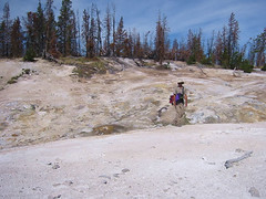 Jake takes us across the Coffee Pot thermal area.