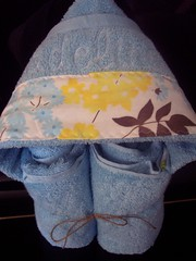 LIght Blue hooded towel (spiritofgiving) Tags: kitchen towels