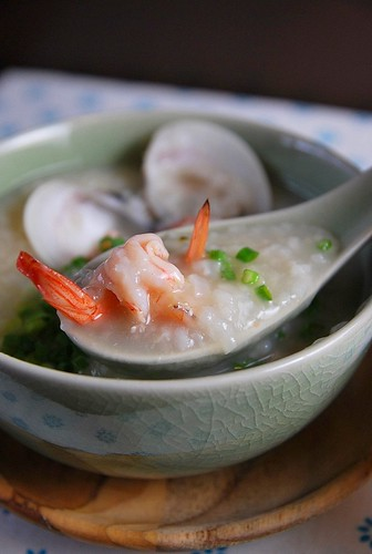 Clam Congee close up