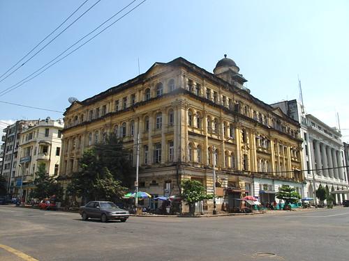 Colonial building, yangon, myanmar