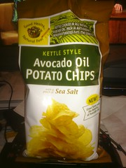 Avocado oil potato chips bag