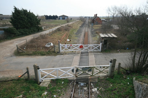Lydd Station and level crossing