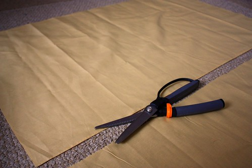 Step 1: Cut Fabric Lengthwise
