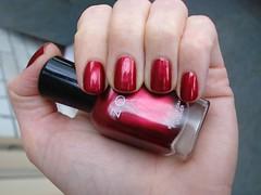 ZOYA - Isla (Truth and Dare  collection Fall 2009) (DelodyLady) Tags: red zoya burgundy nail polish isla shimmer blackenedred