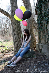 Miss Jenny D. (ChristyMichelle<3) Tags: trees people cute colors portraits balloons spring woods colorful canoneosdigitalrebelxsi christymichelle3 christinebenkophotography jennywrendietz missjennyd