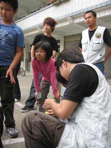 20100320雲林林內國小紫蝶營由偉豪和志豪擔任講師