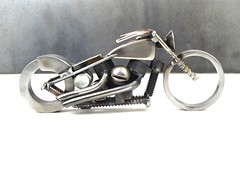 Bike 133 scrap metal art sculpture