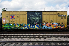 ENGORGED (TRUE 2 DEATH) Tags: california street railroad streetart art train graffiti tag graf trains railcar spraypaint boxcar railways railfan freight freighttrain rollingstock engorged suer benching raskoe freighttraingraffiti ckos hmil