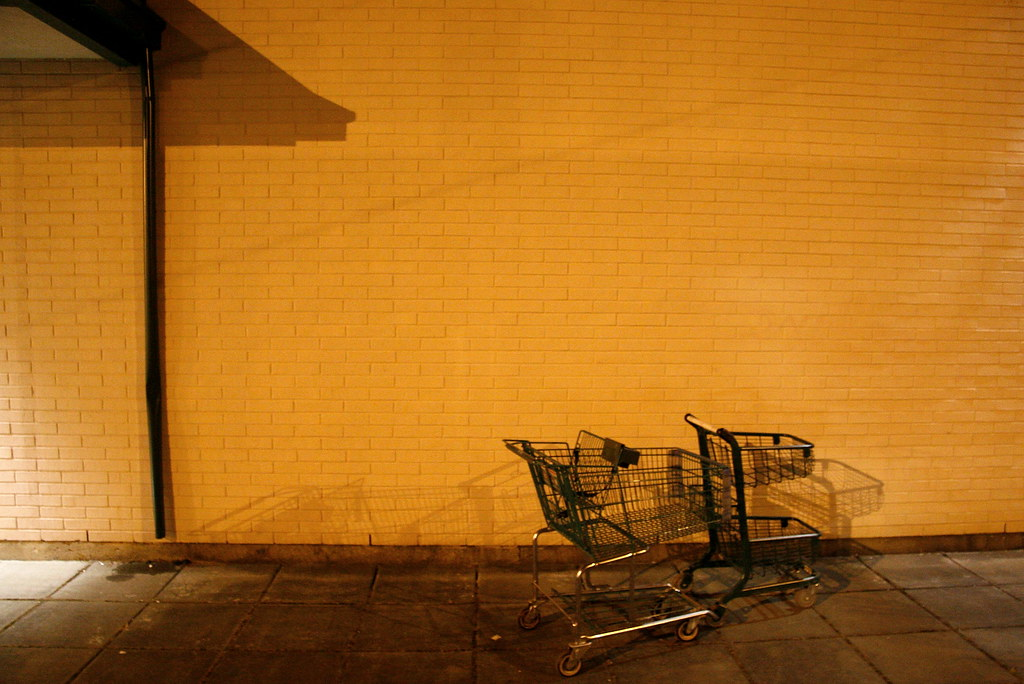 There (shopping carts street scene)