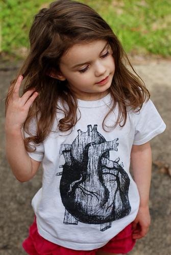 V in heart shirt