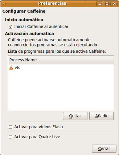 Preferencias Caffeine Ubuntu