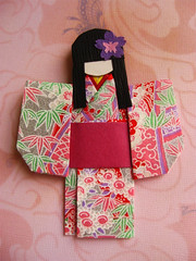 Origami Paper Doll - Mariko (umeorigami) Tags: japan japanese origami doll yukata kimono paperdoll washi ningyo chiyogami shioriningyo warabeningyo
