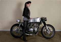 Seven Seven Motos (RikkiEver) Tags: girl fashion bike rock honda cafe model rocker custom caferacer transmission77 sevensevenmotos rikkiever