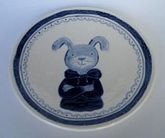 delfts-blauwe haas (Gertie Jaquet) Tags: ceramics plate haas ceramique