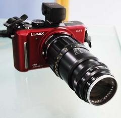 Panasonic Lumix GF1 135mm F4 Tele-Elmar lens