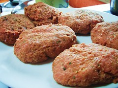 turkey burgers with blue cheese spread - 08