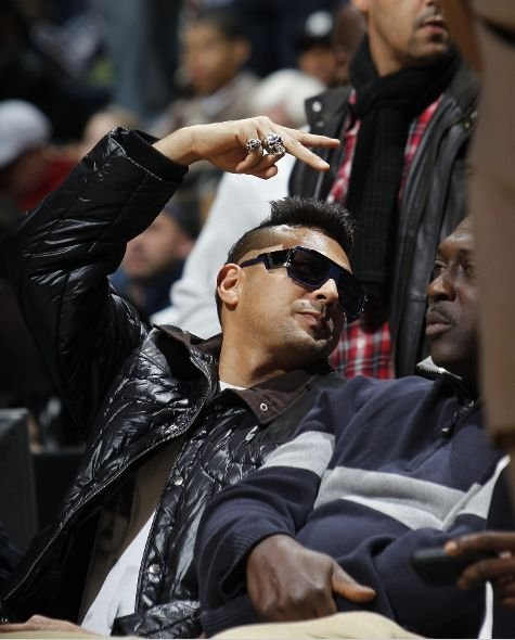 Sean Paul at a Nets game