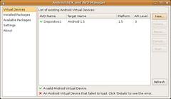 Pantallazo-Android SDK and AVD Manager -3