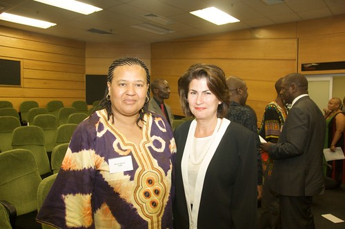 Elinor Sisulu and Nicola Brewer