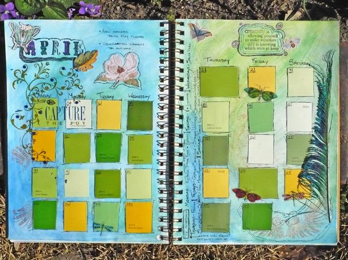April's Art Calendar