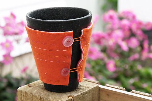 Felt mug cosy