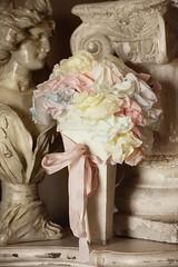 Paper Roses Bonnet (Alys Geertsen) Tags: roses baby rose vintage handmade antique garland bonnet papercraft bloomers shabbychic paperroses coffeefilters abitofparis2u alysgeertsen