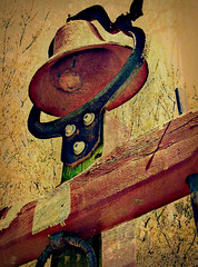 Rusty Bell (scilit) Tags: stilllife texture abandoned bell antique legacy decaying orangerust thepyramid goldribbons awardtree rustedbell qualitysurroundings finestimages trolledproud creativeoutbursts pioneerincreativity rustyanddecayed