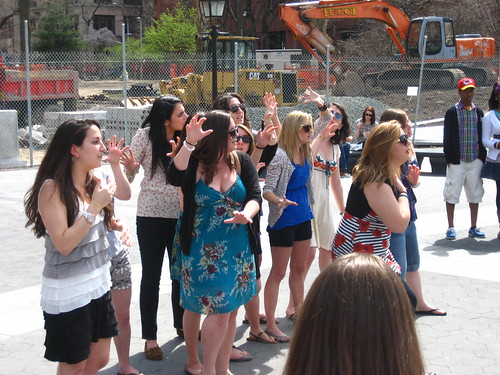 All- Girl Acapella Group from Cornell University at Washington Square Park