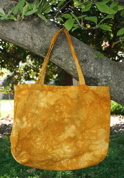 *Butternut* hand dyed canvas shopping bag