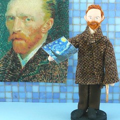 Vincent Van Gogh Miniature Art Doll Character