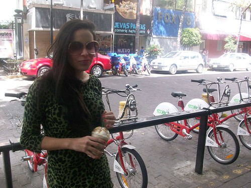 Greta en la Calle Rosa.