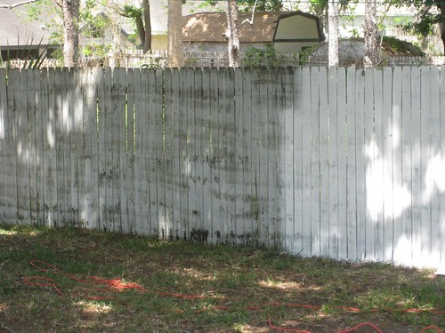 Fence paint vs non