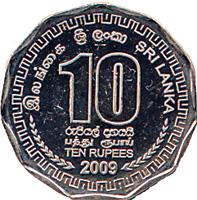 Sri Lanka Ten-Rupee Obverse