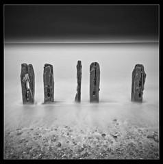 Timbers 5 (Bill Allen.) Tags: longexposure sea art sussex timber nd groyne minimalist winchelsea greatphotographers neutraldensity fineartphotos blackandwhite nd110 platinumphoto platinumsuperstar