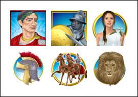 free Glory of Rome slot game symbols