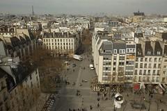 Paris view from Centre Pompidou