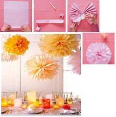 Decorao: Passo a passo pompom de papel (Jessica Santin (Jehhhhh)) Tags: birthday wedding party flores flower paper de table flor craft celebration ornaments hanging casamento easy papel festa aniversrio cheap decorao seda mesa pompoms pompom barata passo enfeite