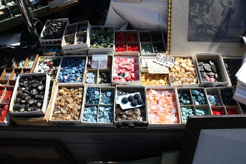 At the flea market: buttons