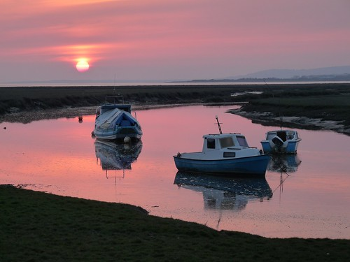 12286 - Sunset at Penclawdd, Gower