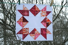 Love in a Mist quilt block
