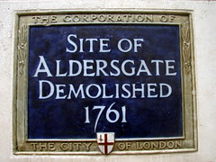 Photo of Aldersgate blue plaque
