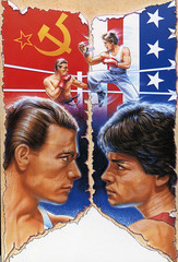NO RETREAT, NO SURRENDER (PEPE CARDOSO) Tags: china illustration vintage movie poster design fight action flag style retro communist 80s van eighties 1986 1980 90s jeanclaude ilustracin damme amarica ochentero