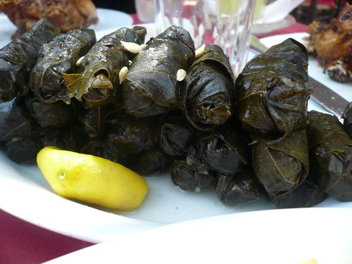 Warq Enab - stuffed grape leaves