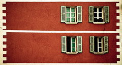 Windows (alafourcade) Tags: orange france alps window alpes four geometry 4 fenetres quatre geometrique