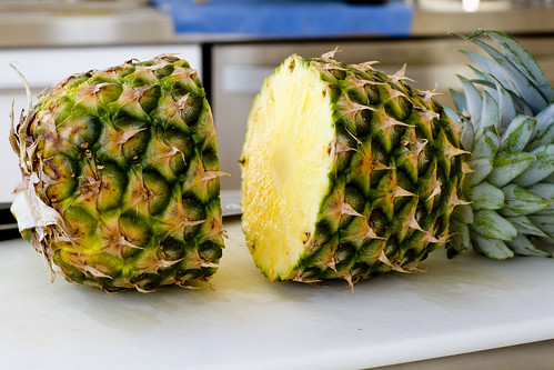 pineapple halved