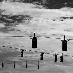 (john max) Tags: street light sky blackandwhite blancoynegro clouds florida cables cielo nubes urbanism johnmax