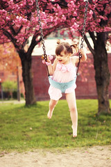 Tink (VictoriaScreams) Tags: trees vintage swing dreamy helena happyhappyjoyjoy pinkdress pinkflowers coffeeshopactionslomo